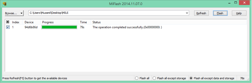 MiFlash Tools