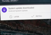 System Update xiaomi notification