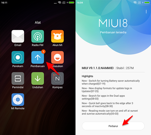 Upgrade ke MIUI 9 via OTA