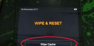 Wipe Cache xiaomi and Reboot System