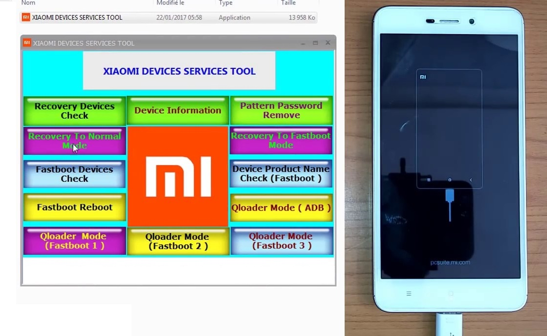 Hard Reset Xiaomi Devices Service Tool