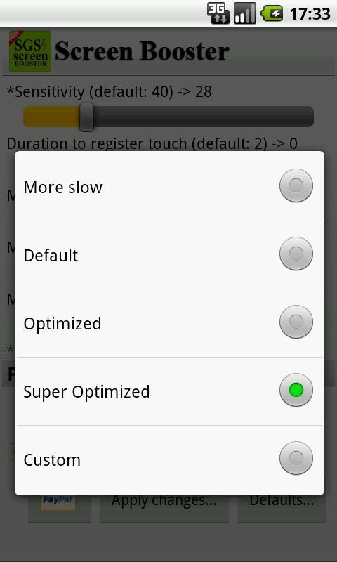 SGS Touchscreen Booster android
